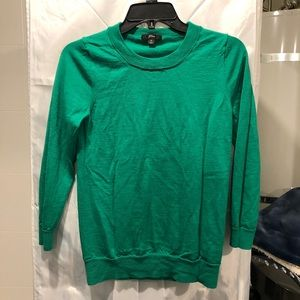 J Crew 3/4 sleeve sweater